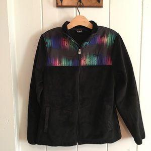 Fila Sport black and rainbow fleece zip jacket